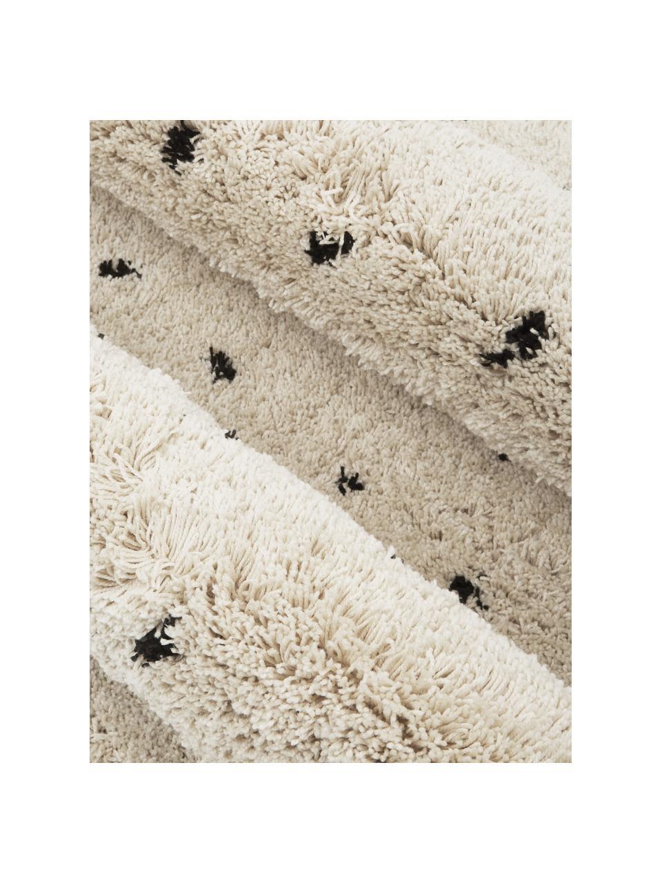Puszysty dywan Ayana, Beżowy, czarny, S 120 x D 180 cm (Rozmiar S)