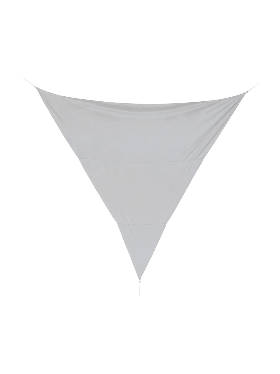 Graues Sonnensegel Triangle, Grau, 500 x 500 cm