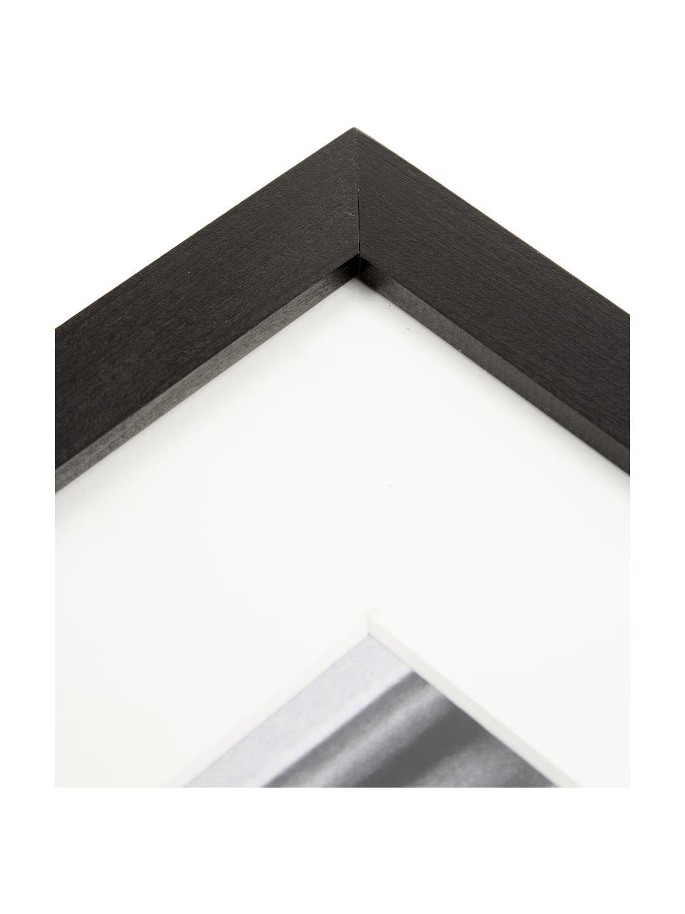 Stampa digitale incorniciata Breakfast at Tiffany's, Immagine: stampa digitale su carta,, Cornice: legno verniciato, Foto: nero, bianco Cornice: nero, Larg. 33 x Alt. 43 cm