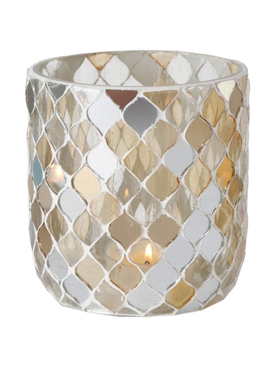 Komplet świeczników na podgrzewacze Horya, 3 elem., Szkło, gips, Wielobarwny, Ø 10 x W 11 cm