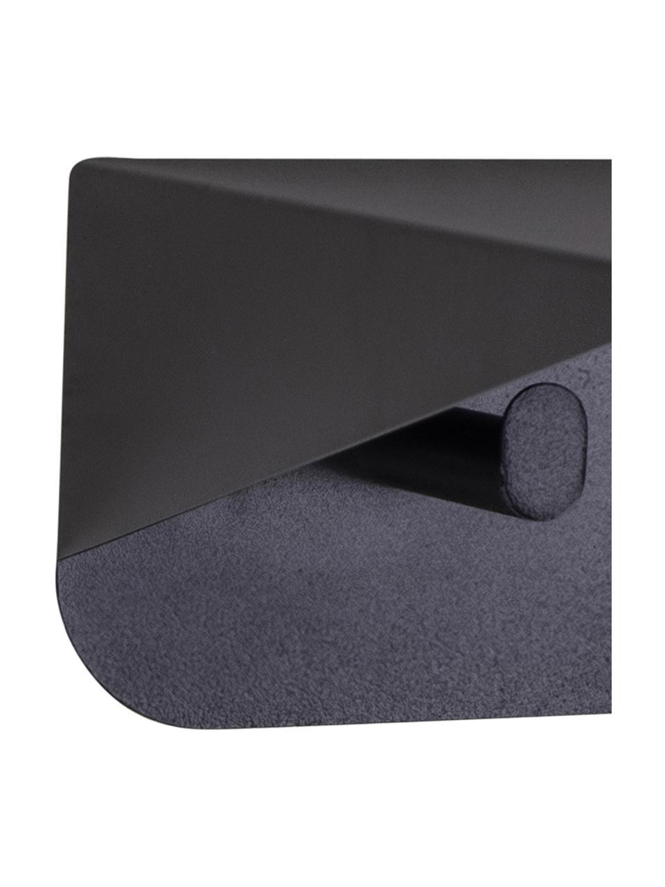 Półka ścienna z metalu Selje, Metal powlekany, Czarny, S 80 x W 10 cm