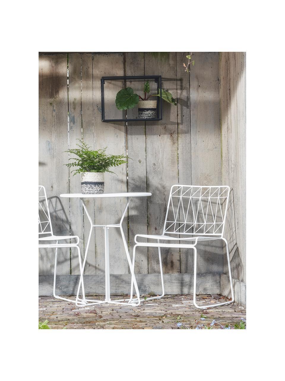 Stolik balkonowy Bueno, Metal powlekany, Biały, Ø 60 x W 70 cm