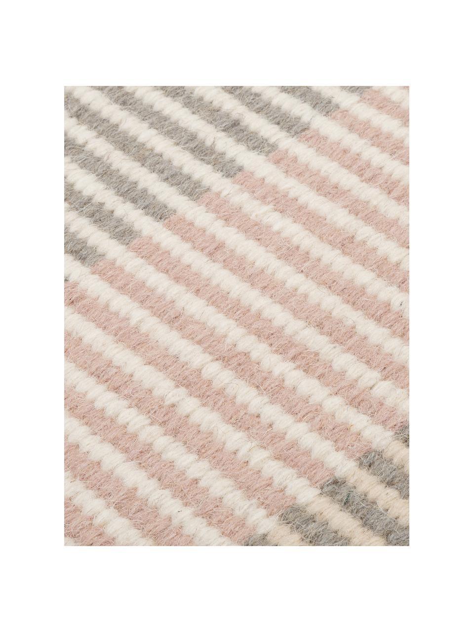 Gestreept kelim vloerkleed Devise van wol, handgeweven, 100% wol Bij wollen vloerkleden kunnen vezels loskomen in de eerste weken van gebruik, dit neemt af door dagelijks gebruik en pluizen wordt verminderd., Multicolour, B 140 x L 200 cm (maat S)