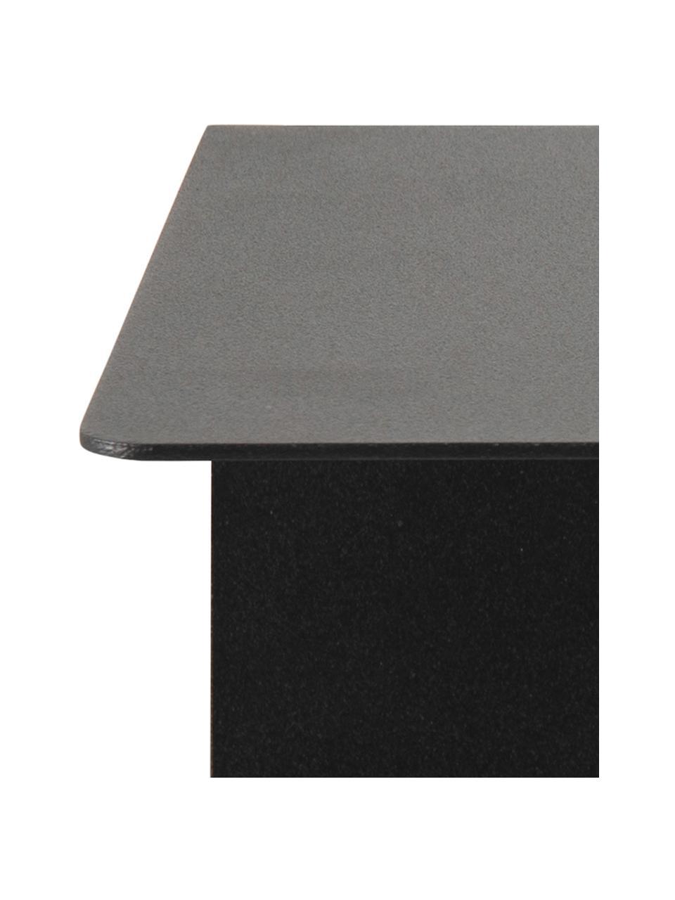Ścienny stolik nocny z metalu Neptun, 2 szt., Metal malowany proszkowo, Czarny, S 35 x W 14 cm