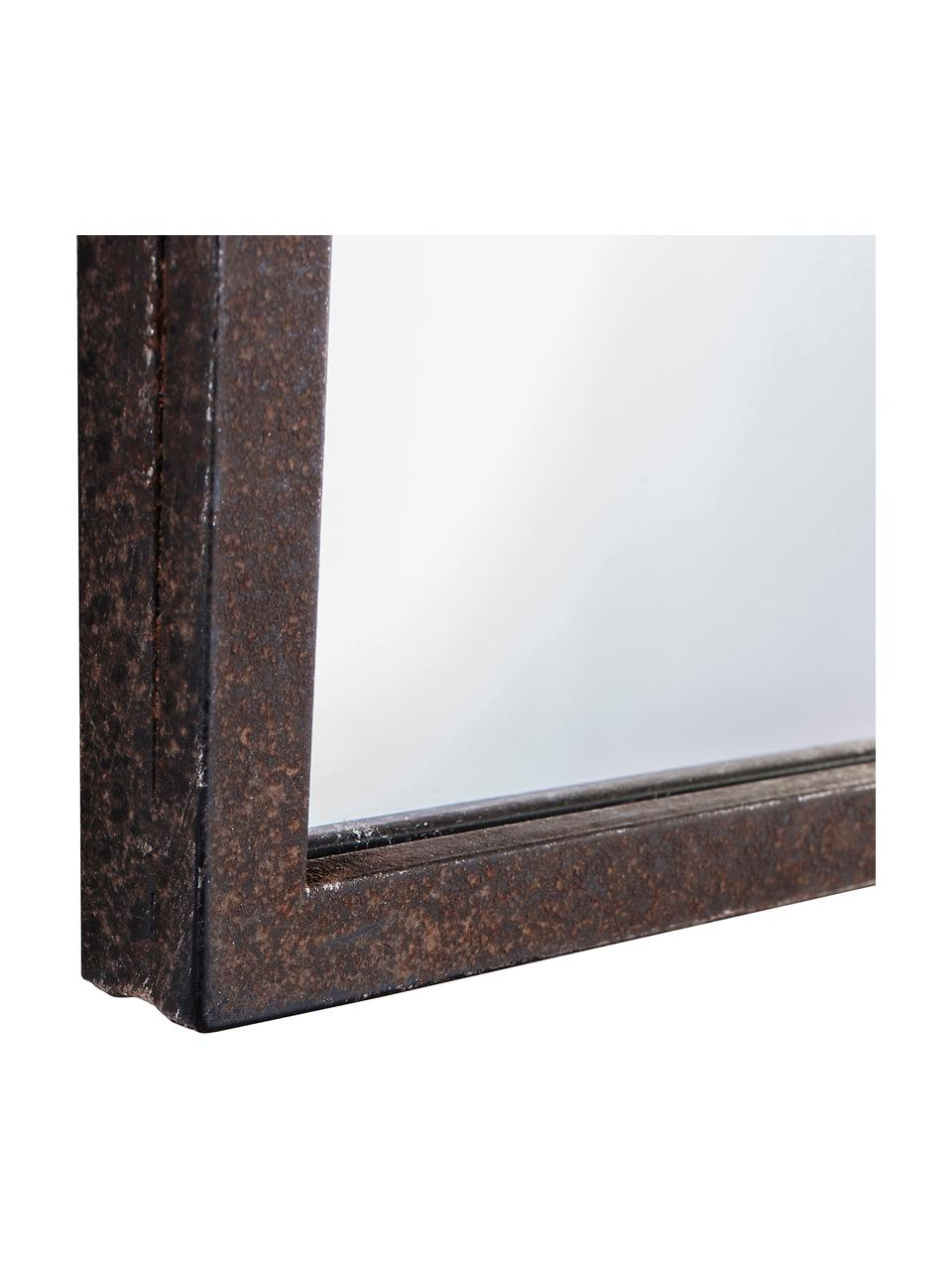 Lustro ścienne z metalu Rockford, Czarny, S 91 x W 76 cm