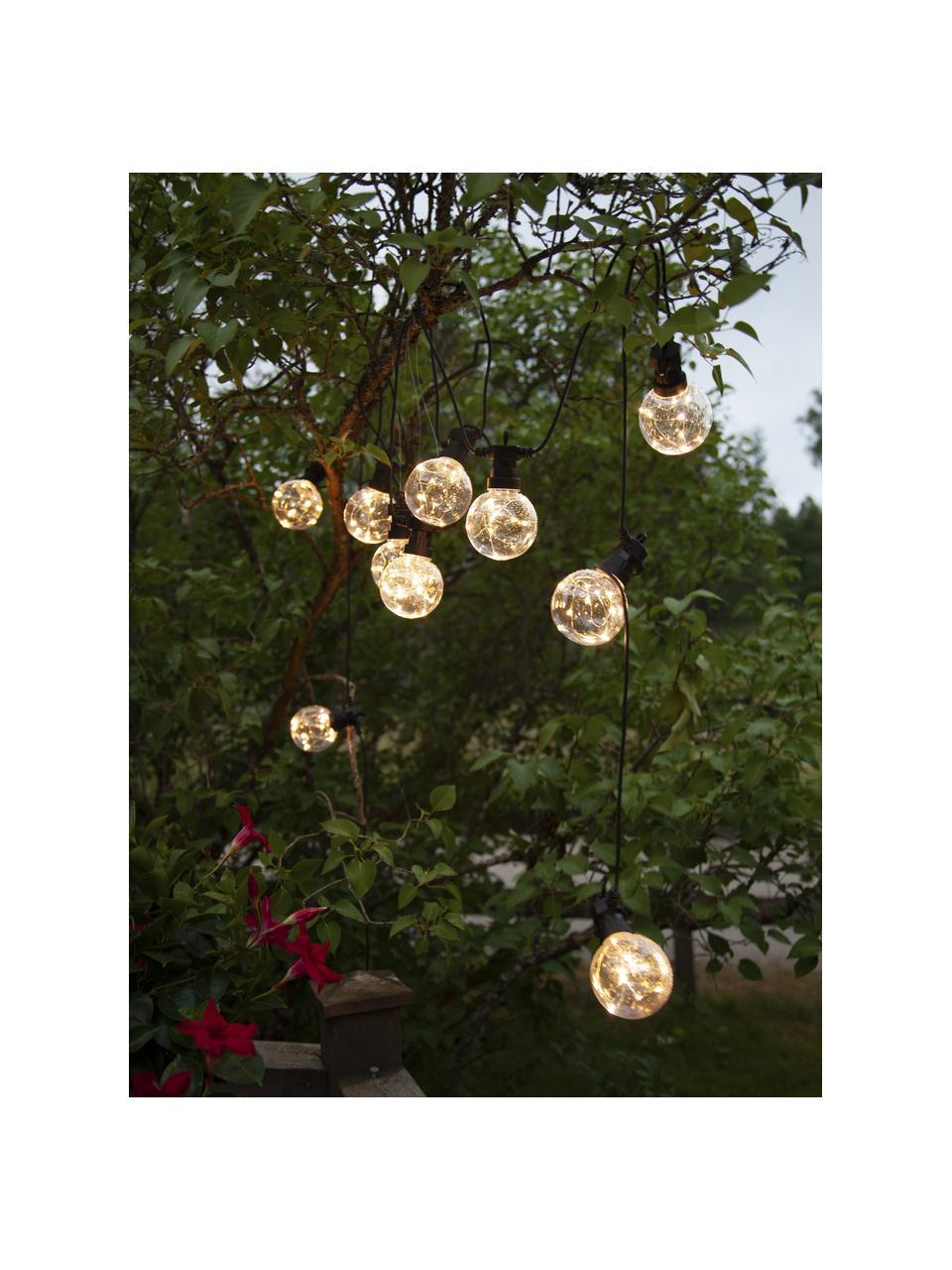 Ghirlanda a LED Big Cirkus, 950 cm, 10 lampioni, Lanterne: materiale sintetico, Nero, Lung. 950 cm