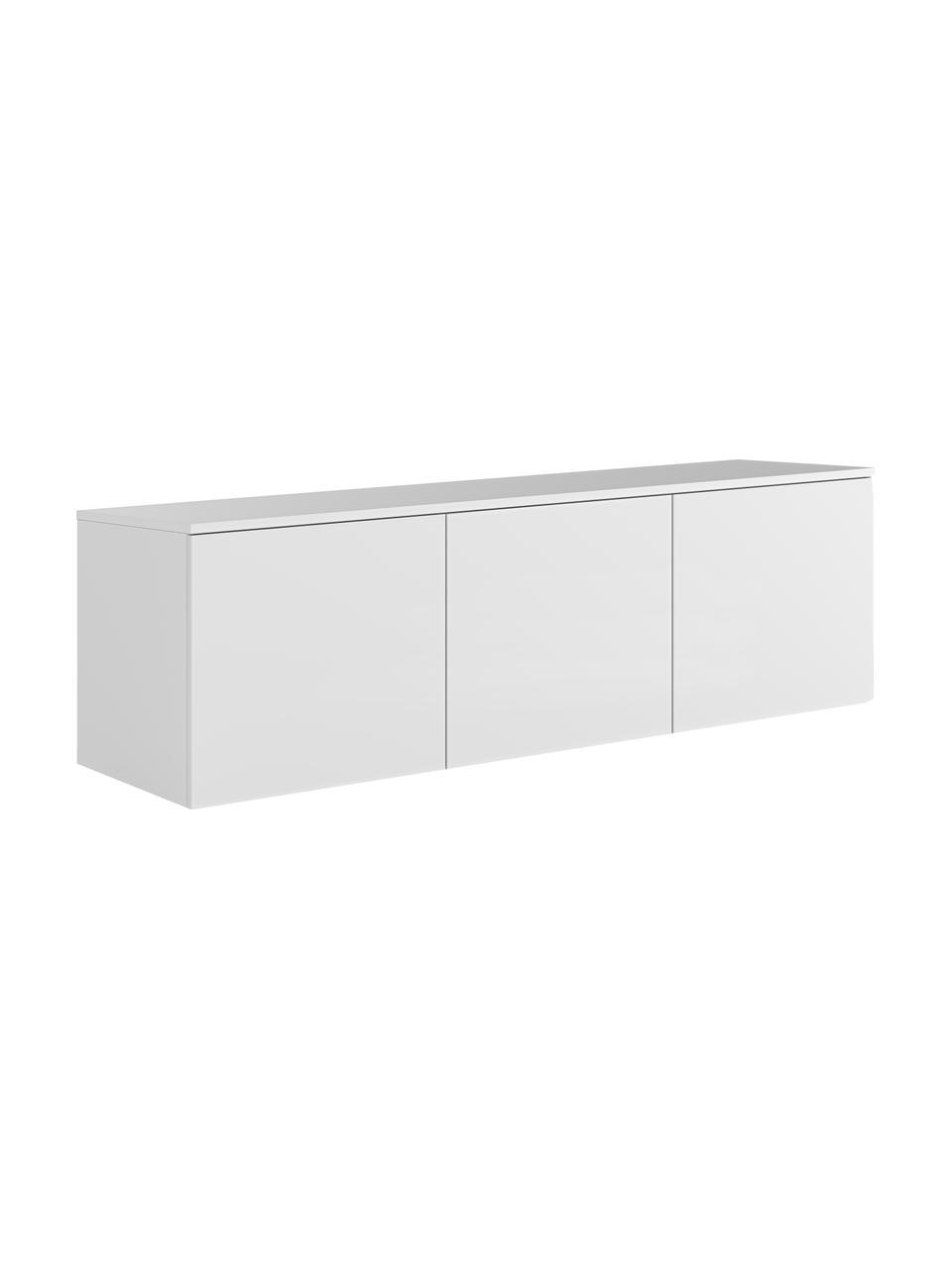 Weißes Lowboard Join mit Türen, Mitteldichte Holzfaserplatte, lackiert, Weiß, 180 x 57 cm
