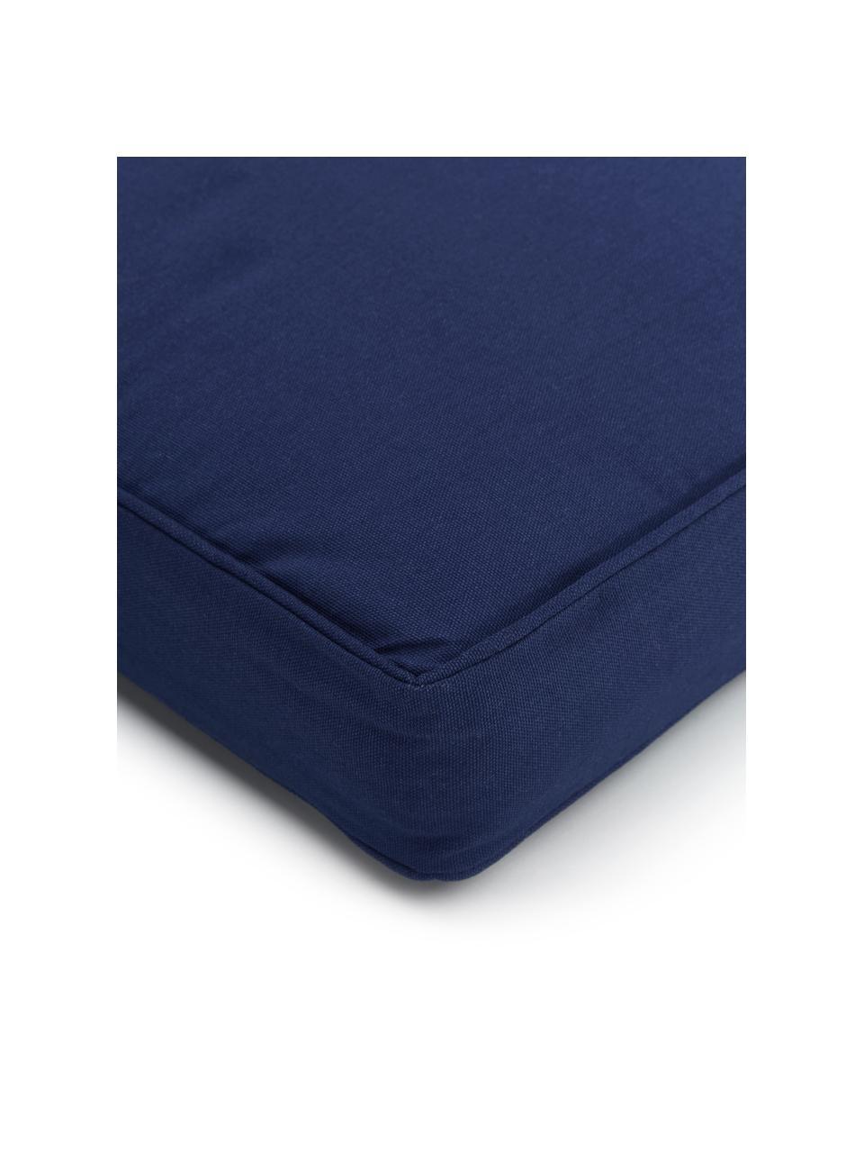 Hohes Sitzkissen Zoey in Dunkelblau, Bezug: 100% Baumwolle, Blau, 40 x 40 cm