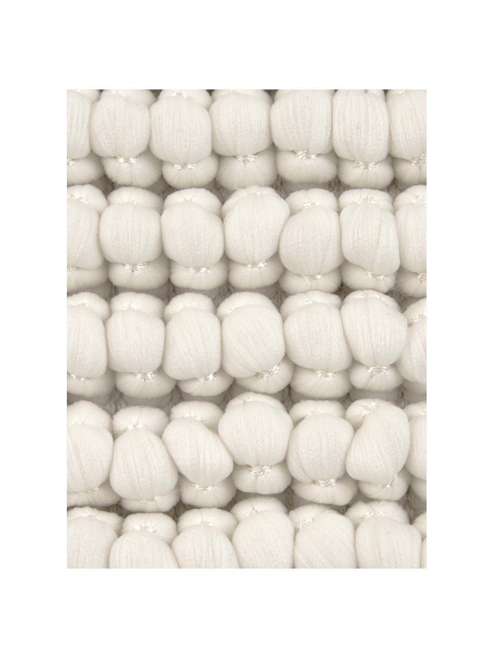 Kissenhülle Iona mit kleinen Stoffkugeln in Cremeweiß, Vorderseite: 76% Polyester, 24% Baumwo, Rückseite: Baumwolle, Cremeweiß, 45 x 45 cm