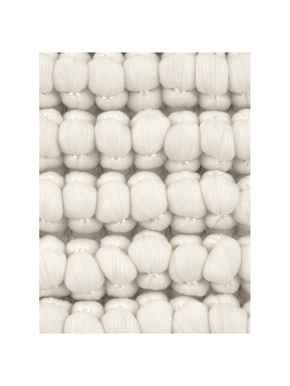 Kussenhoes Iona met kleine bolletjes in crèmewit, Crèmewit, 45 x 45 cm