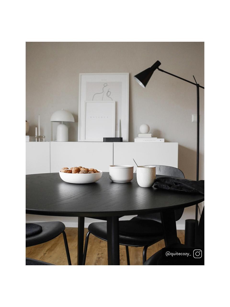 Retro leeslamp Sia in zwart, Lampenkap: gepoedercoat metaal, Lampvoet: gepoedercoat metaal, Zwart, Ø 14 x H 162 cm