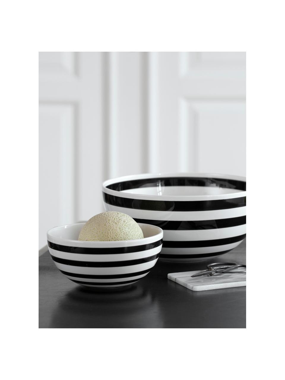 Kom Omaggio van keramiek, Ø 30 cm, Keramiek, Zwart, wit, Ø 30 x H 14 cm
