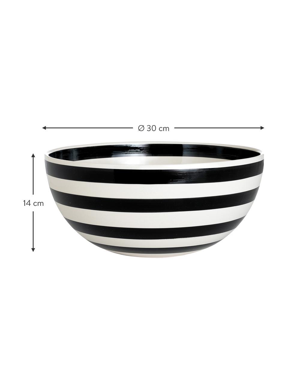Miska z ceramiki Omaggio, Ceramika, Czarny, biały, Ø 30 x W 14 cm