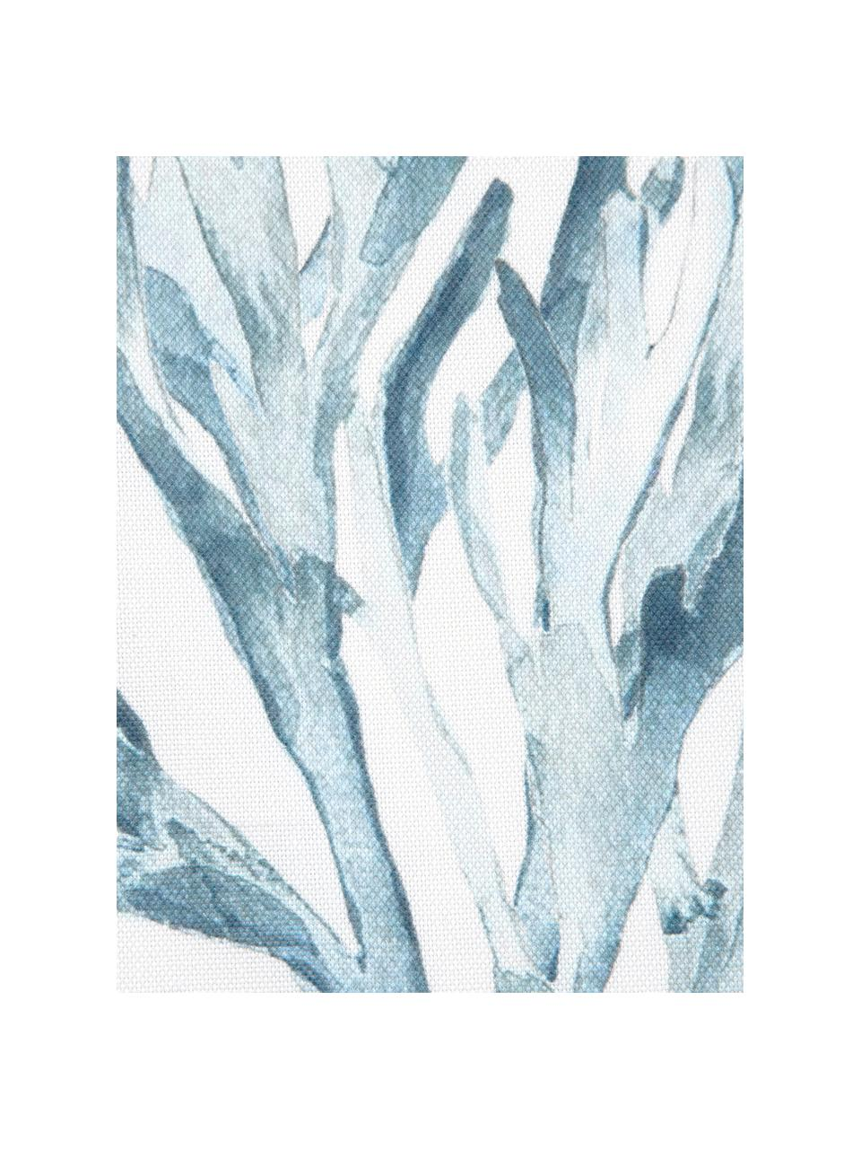 Kissenhülle Asteroidea mit Print in Aquarelloptik, 100% Baumwolle, Blau, Weiß, 40 x 40 cm