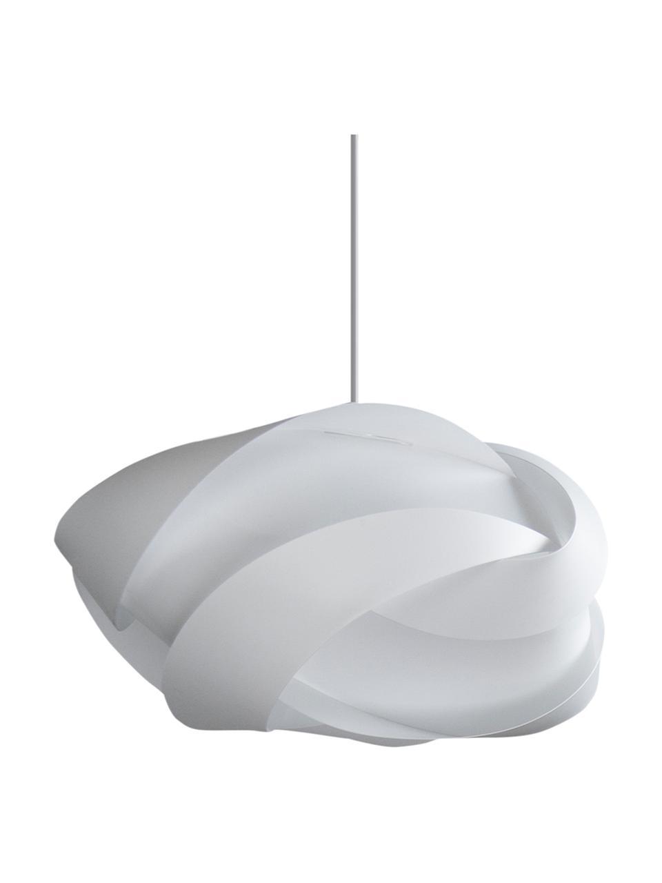 Lampada a sospensione Ribbon, Paralume: polipropilene, policarbon, Baldacchino: materiale sintetico, Bianco, Ø 60 x Alt. 28 cm