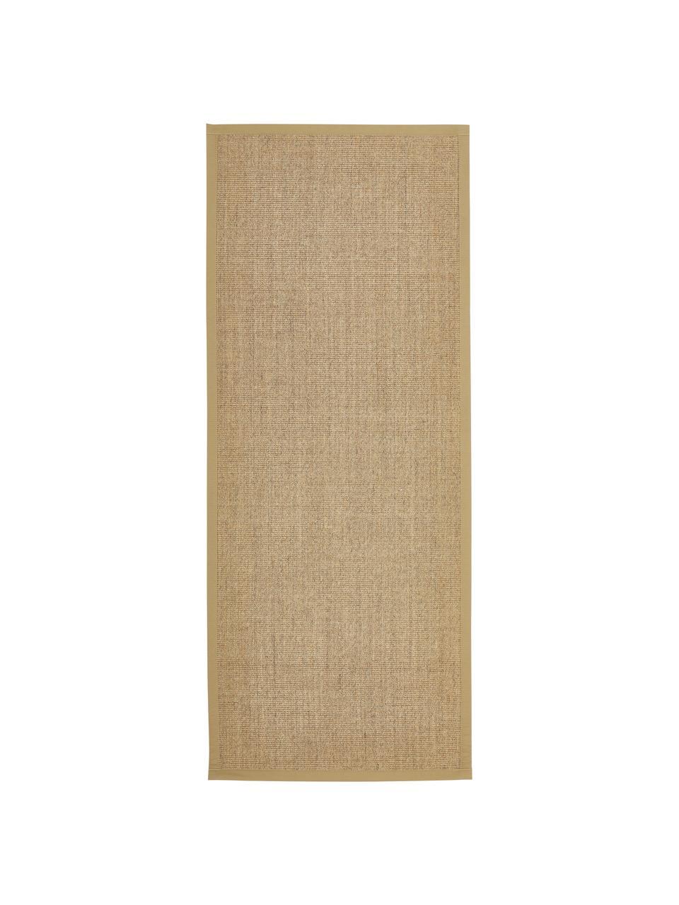 Sisalläufer Leonie in Beige, Flor: 100% Sisalfaser, Rückseite: Latex, Beige, 80 x 300 cm