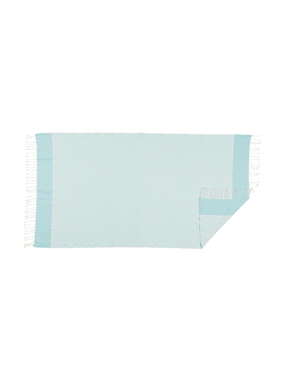 Leichtes Handtuch-Set Copenhague mit Lurexborte, 3-tlg., Hellblau, Silberfarben, Weiß, Sondergrößen