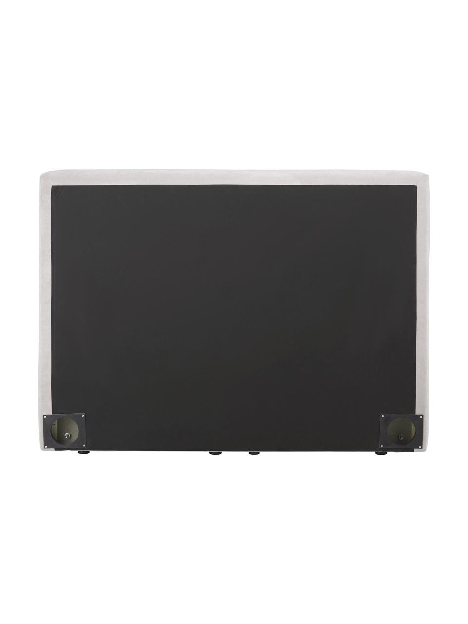 Boxspringbett Oberon in  Hellbeige, Matratze: 5-Zonen-Taschenfederkern, Füße: Kunststoff, Webstoff Hellbeige, 200 x 200 cm