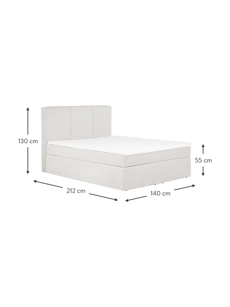 Łóżko kontynentalne Oberon, Nogi: tworzywo sztuczne, Jasny beżowy, S 200 x D 200 cm
