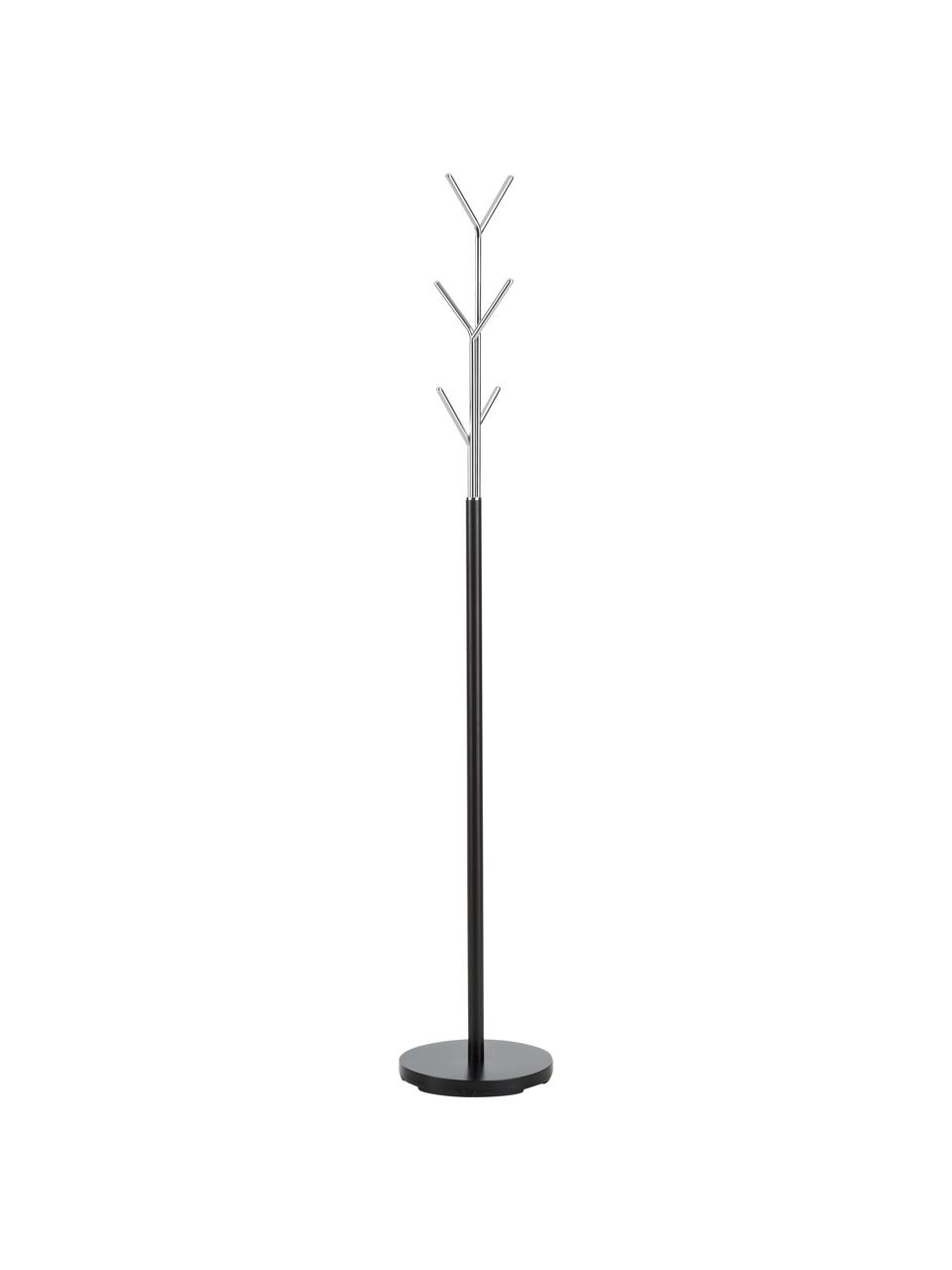 Wieszak stojący London, Czarny, chrom, Ø 31 x W 177 cm