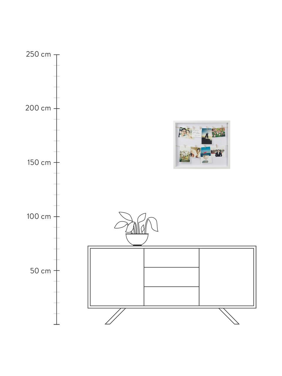 Ramka na zdjęcia Clothesline, Biały, S 52 x W 45 cm