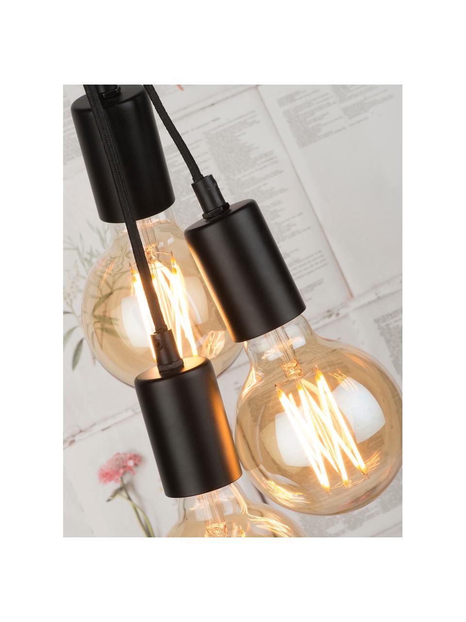 Grand lampadaire industriel Oslo, Noir