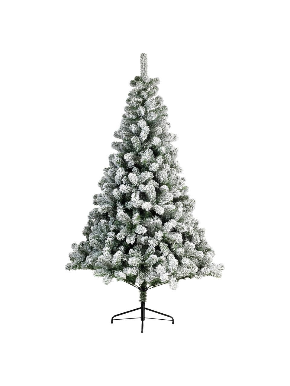 Albero di Natale artificiale North Pole, nevicato, Verde, bianco, Ø 97 x Alt. 150 cm
