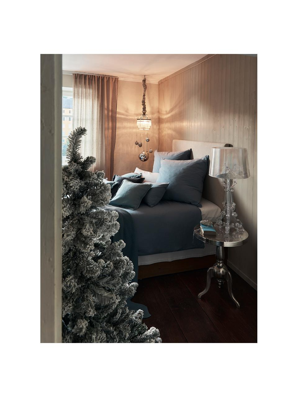 Künstlicher Weihnachtsbaum North Pole, beschneit, Fuß: Metall, beschichtet, Grün, Weiß, Ø 97 x H 150 cm