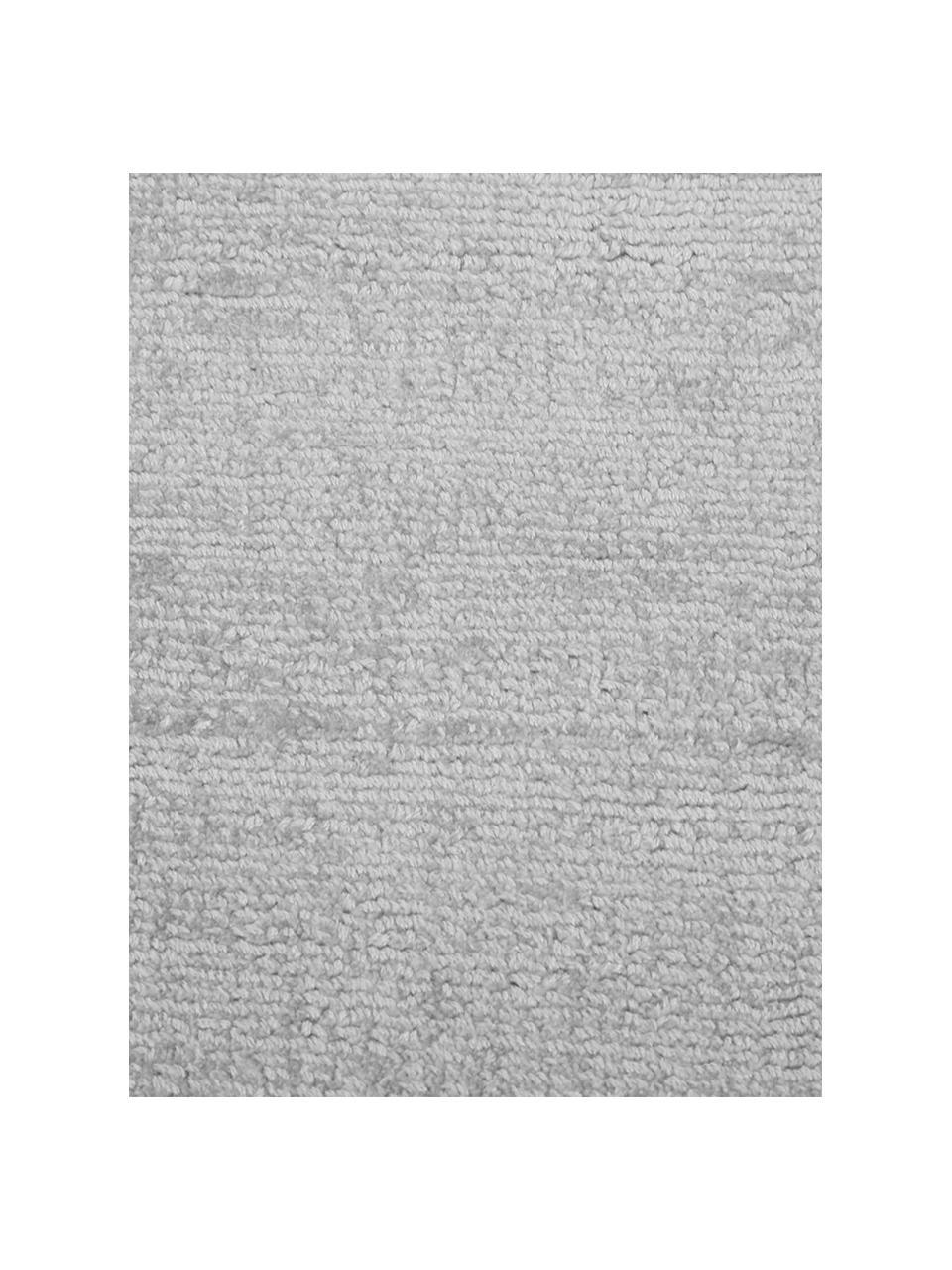 Ręcznie tkany dywan z wiskozy Jane, Srebrnoszary, S 300 x D 400 cm (Rozmiar XL)