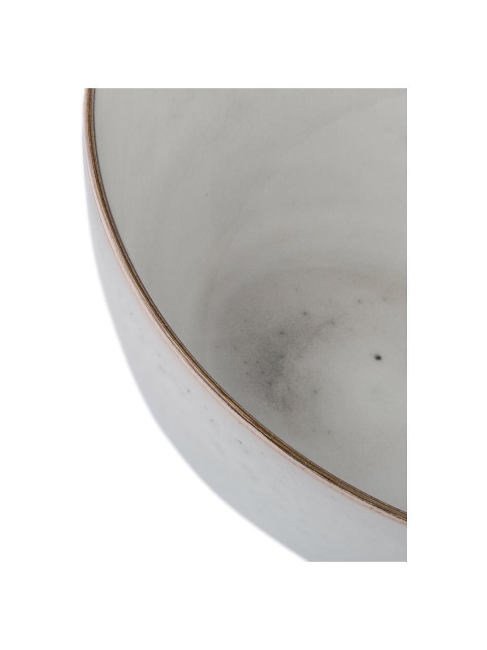 Ciotola da portata in gres fatta a mano Nordic Sand, Ø 25 cm, Gres, Sabbia, Ø 25 x Alt. 11 cm
