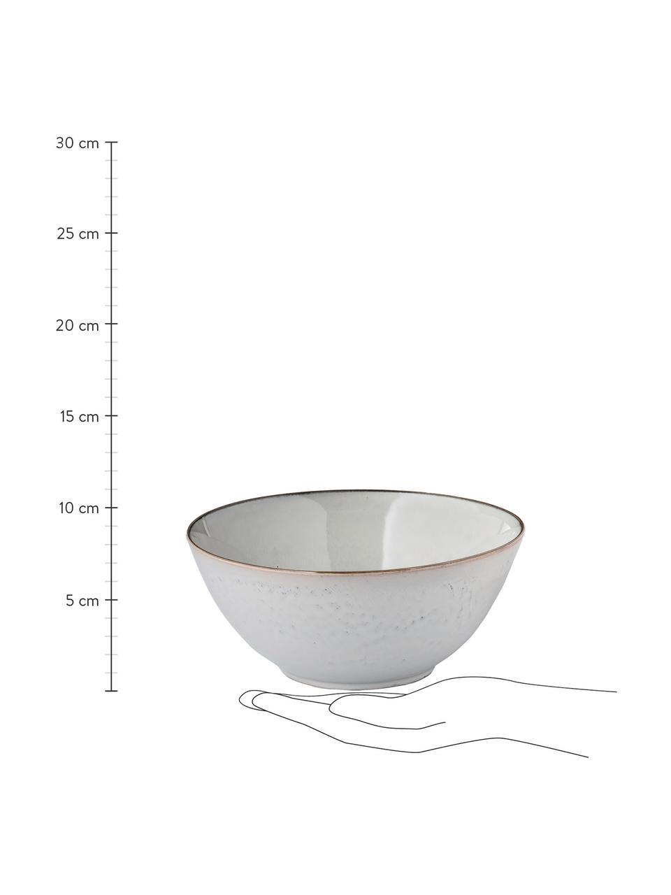 Handgemachte Servierschüssel Nordic Sand Ø 25 cm aus Steingut, Steingut, Sand, Ø 25 x H 11 cm