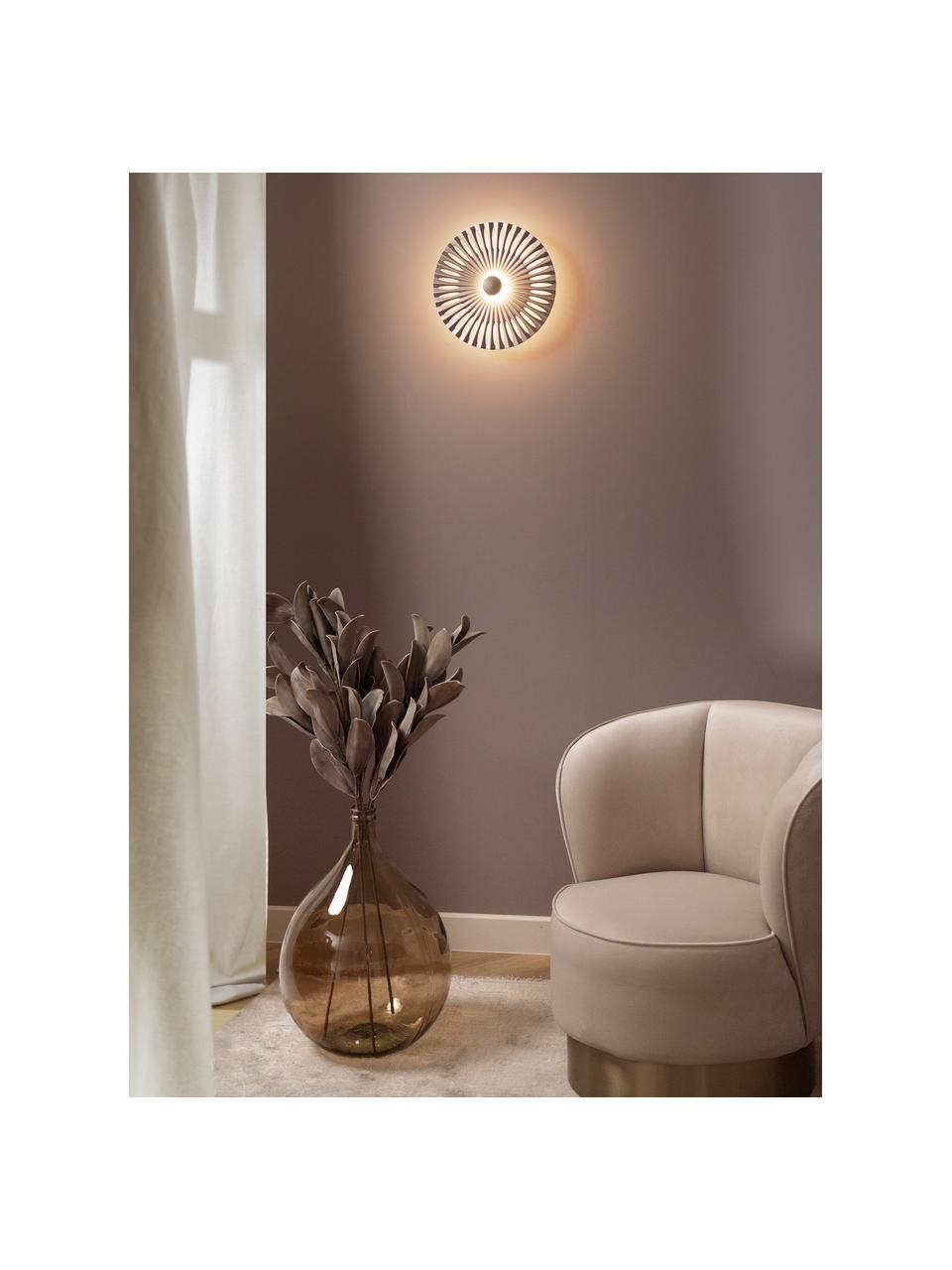 Fluwelen fauteuil Olivia in beige, Bekleding: fluweel (polyester), Voet: gecoat metaal, Beige, 70 x 70 cm