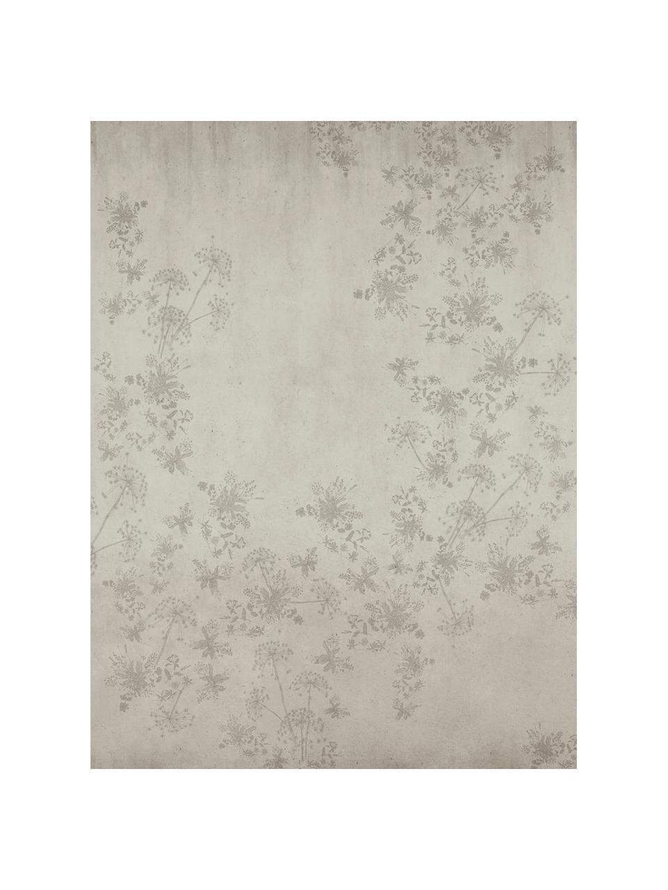 Fototapete Wildflowers, Vlies, Beige, 300 x 280 cm