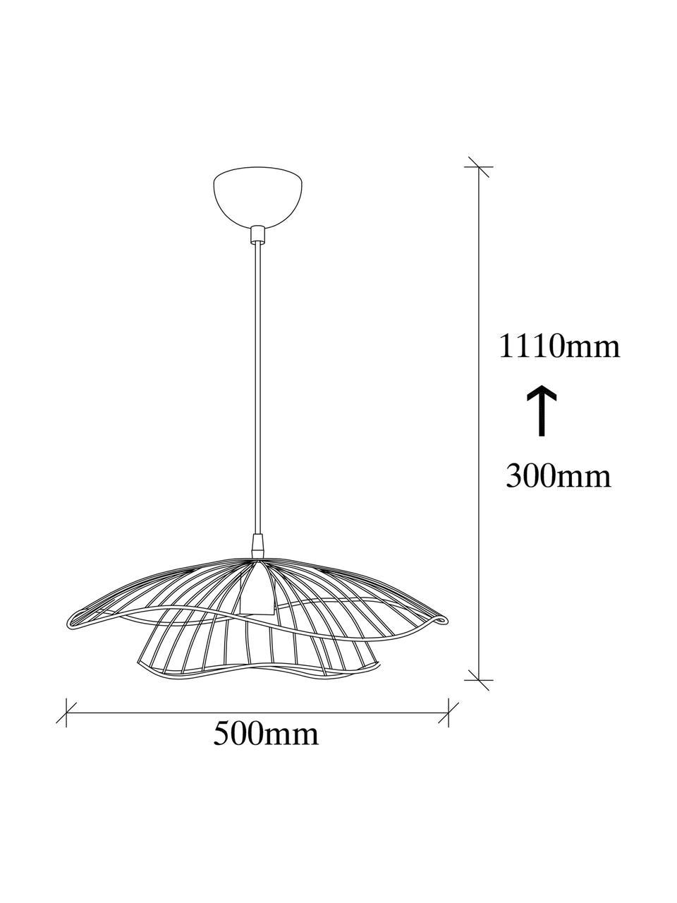 Pendelleuchte Tel aus Metall, Lampenschirm: Metall, beschichtet, Baldachin: Metall, beschichtet, Messingfarben, Schwarz, Ø 50 x H 14 cm