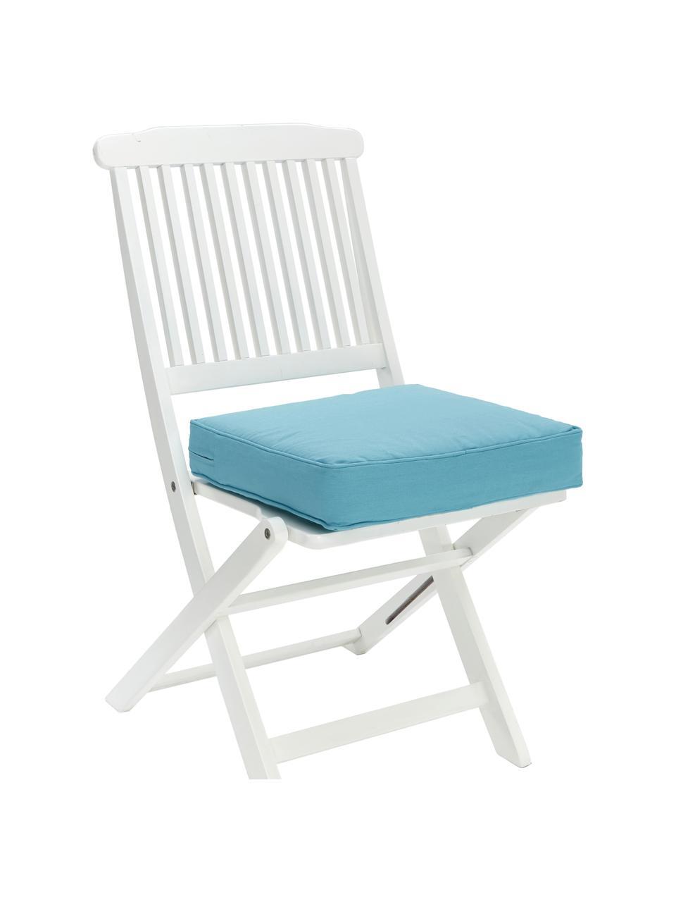 Sitzkissen Zoey in Blau, Bezug: 100% Baumwolle, Blau, 40 x 40 cm