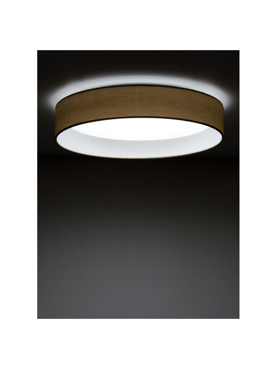 LED-plafondlamp Helen in taupe, Diffuser: kunststof, Taupe, Ø 52 x H 11 cm