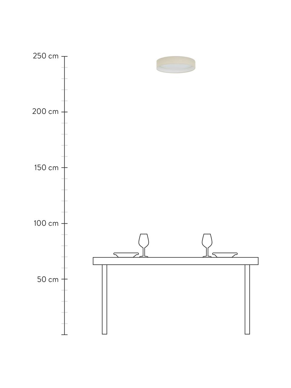 Plafoniera a LED color taupe Helen, Cornice: metallo, Taupe, Ø 52 x Alt. 11 cm