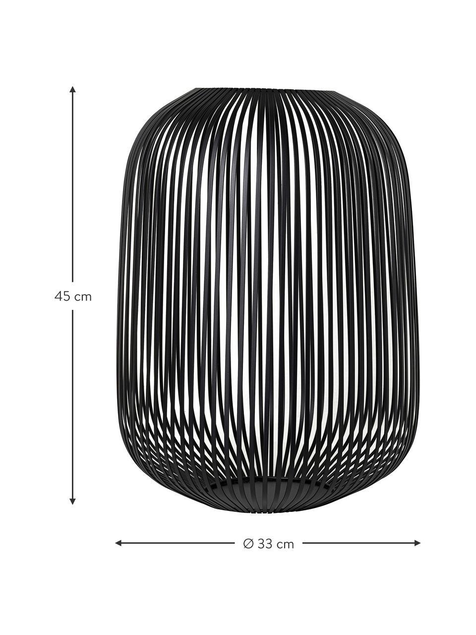 Laterne Lito, Metall, beschichtet, Schwarz, Ø 33 x H 45 cm