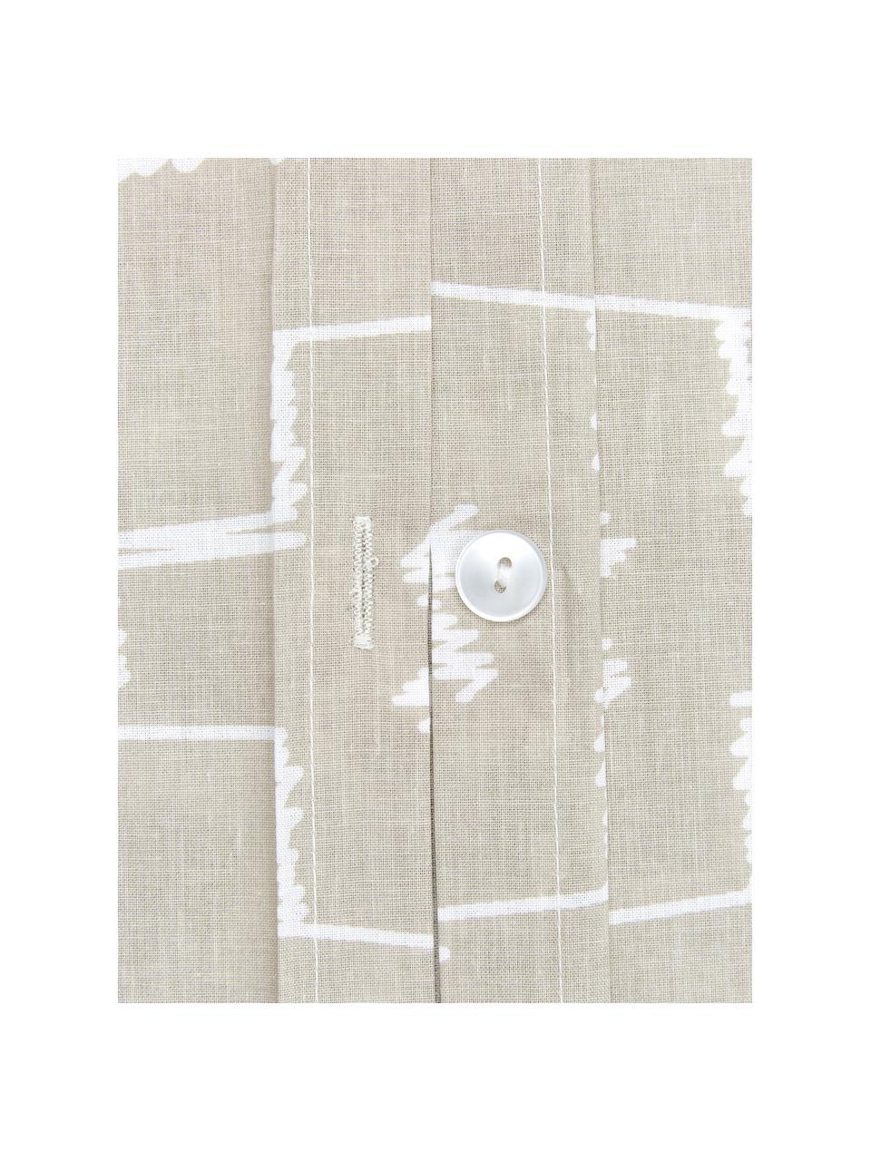 Pościel z bawełny Kamila, Beżowy, 135 x 200 cm + 1 poduszka 80 x 80 cm