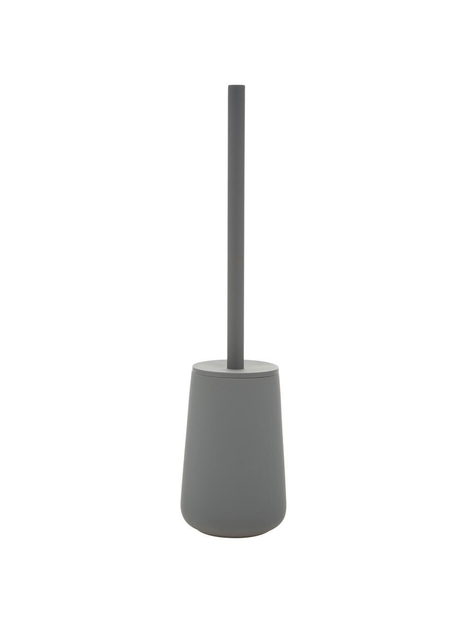 Szczotka toaletowa z pojemnikiem z porcelany Nova One, Szary, matowy, Ø 10 x W 43 cm