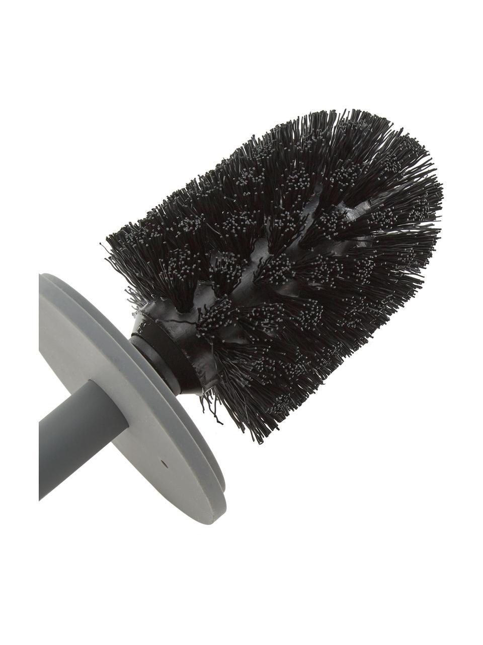 Brosse pour avec récipient en porcelaine WC Brush, Gris