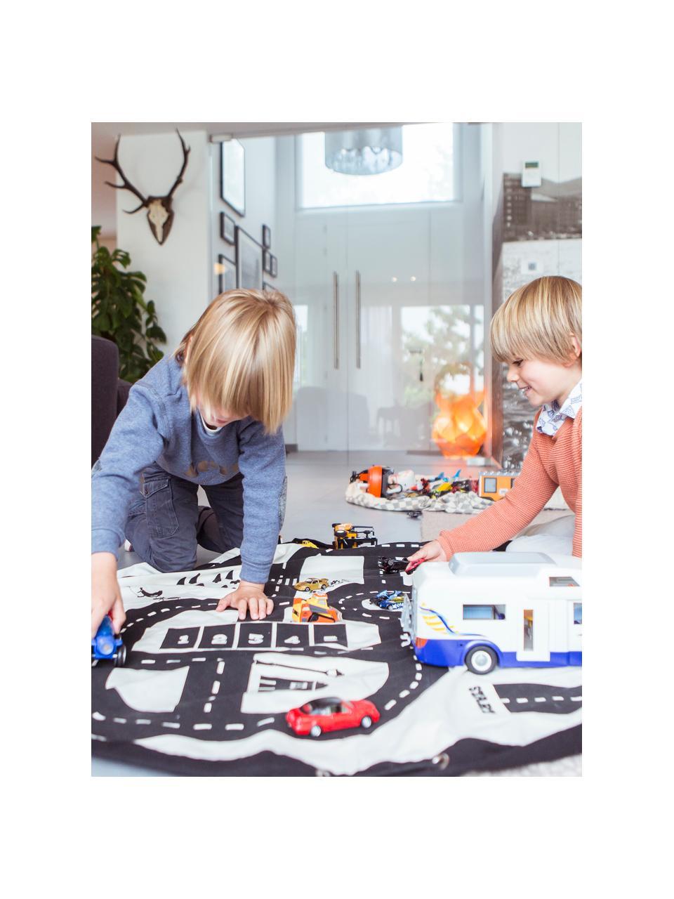 Sacco per giocattoli Roadmap, Poliestere, Nero, bianco, Ø 140 cm