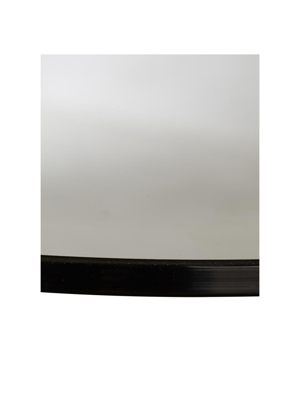 Tavolino con piano in vetro Valentina, Piano d'appoggio: vetro, Mensola: pannello di fibra a media, Struttura: metallo verniciato a polv, Marrone, Ø 44 x Alt. 50 cm