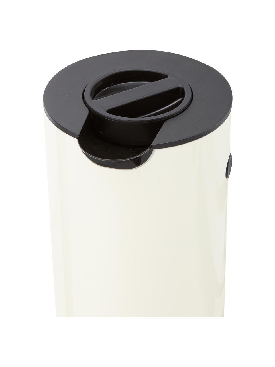 Isolierkanne EM77 in Cremeweiß glänzend, 1 L, ABS-Kunststoff, im Inneren mit Glaseinsatz, Cremeweiß, glänzend, 1 L