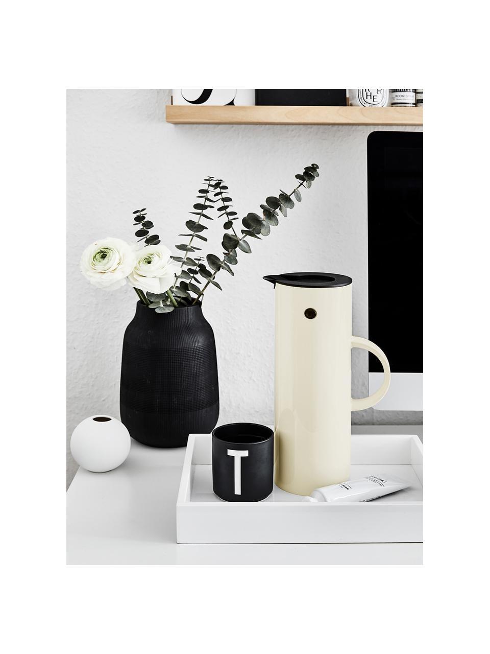 Brocca isotermica color bianco crema lucido EM77, 1 L, Materiale sintetico ABS con inserto in vetro, Bianco crema lucido, 1 L