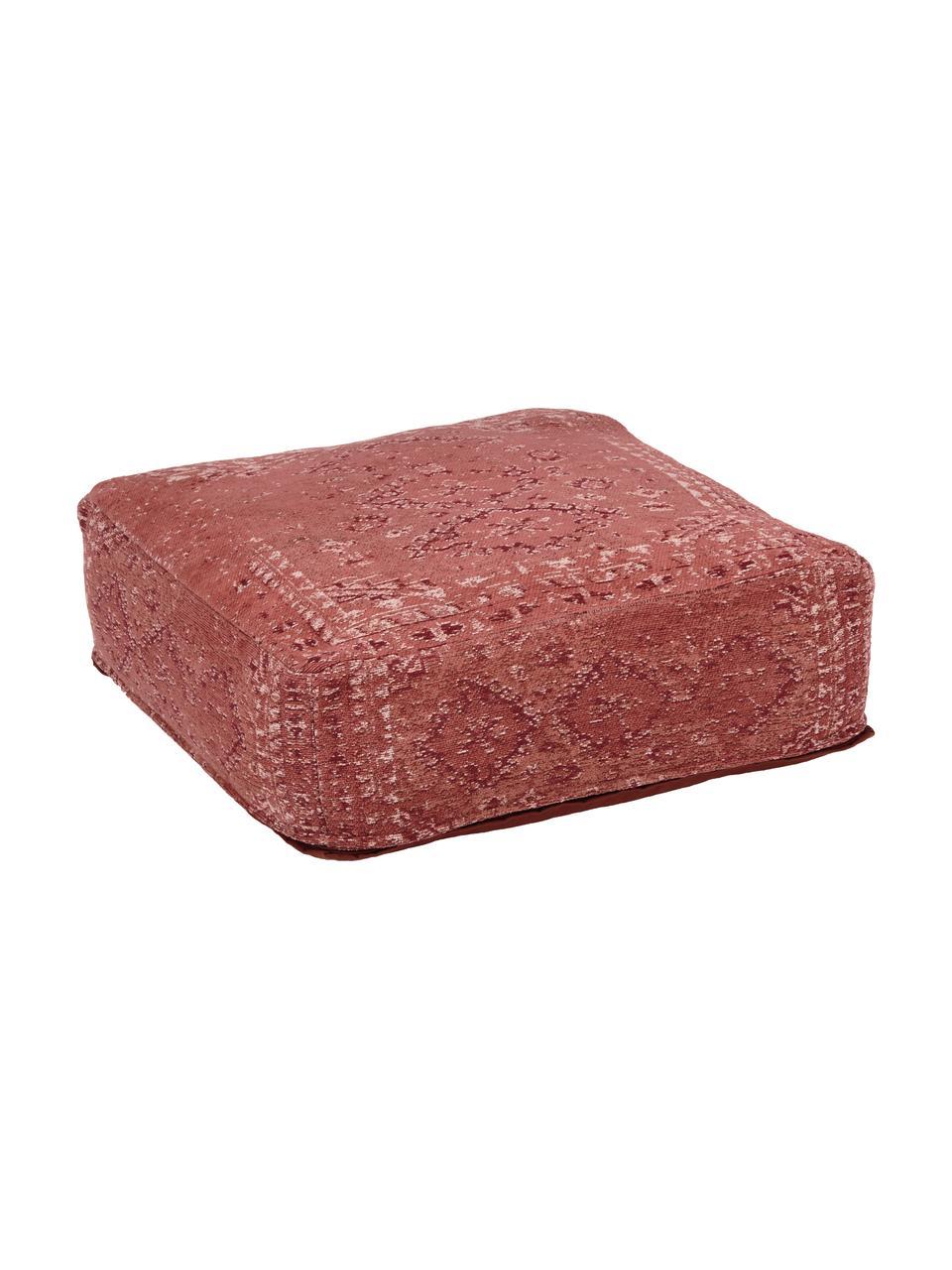 Poduszka podłogowa w stylu vintage Rebel, Tapicerka: 95% bawełna, 5% poliester, Rudy, kremowy, czerwony, S 70 x W 26 cm