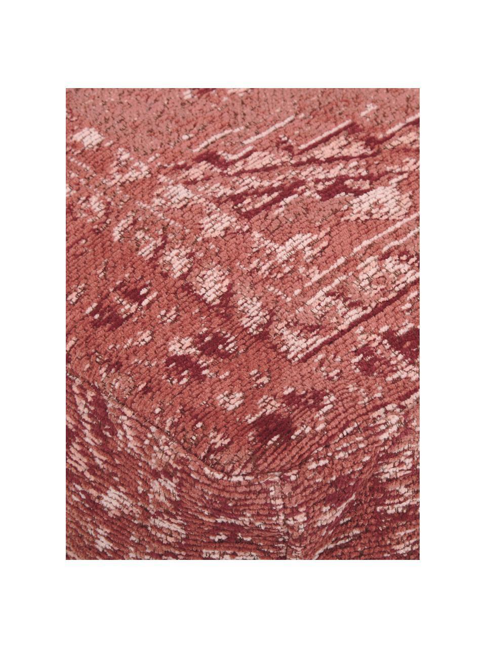 Vintage vloerkussen Rebel, Bekleding: 95% katoen, 5% polyester, Roodbruin, crèmekleurig, rood, 70 x 26 cm