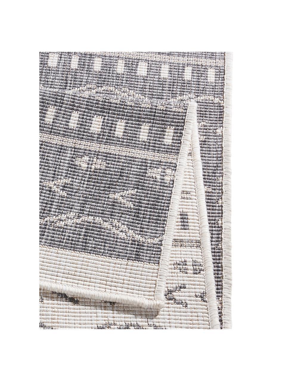 In- und Outdoor-Wendeläufer Kuba in Grau/Creme, 100% Polypropylen, Grau, Creme, 80 x 250 cm