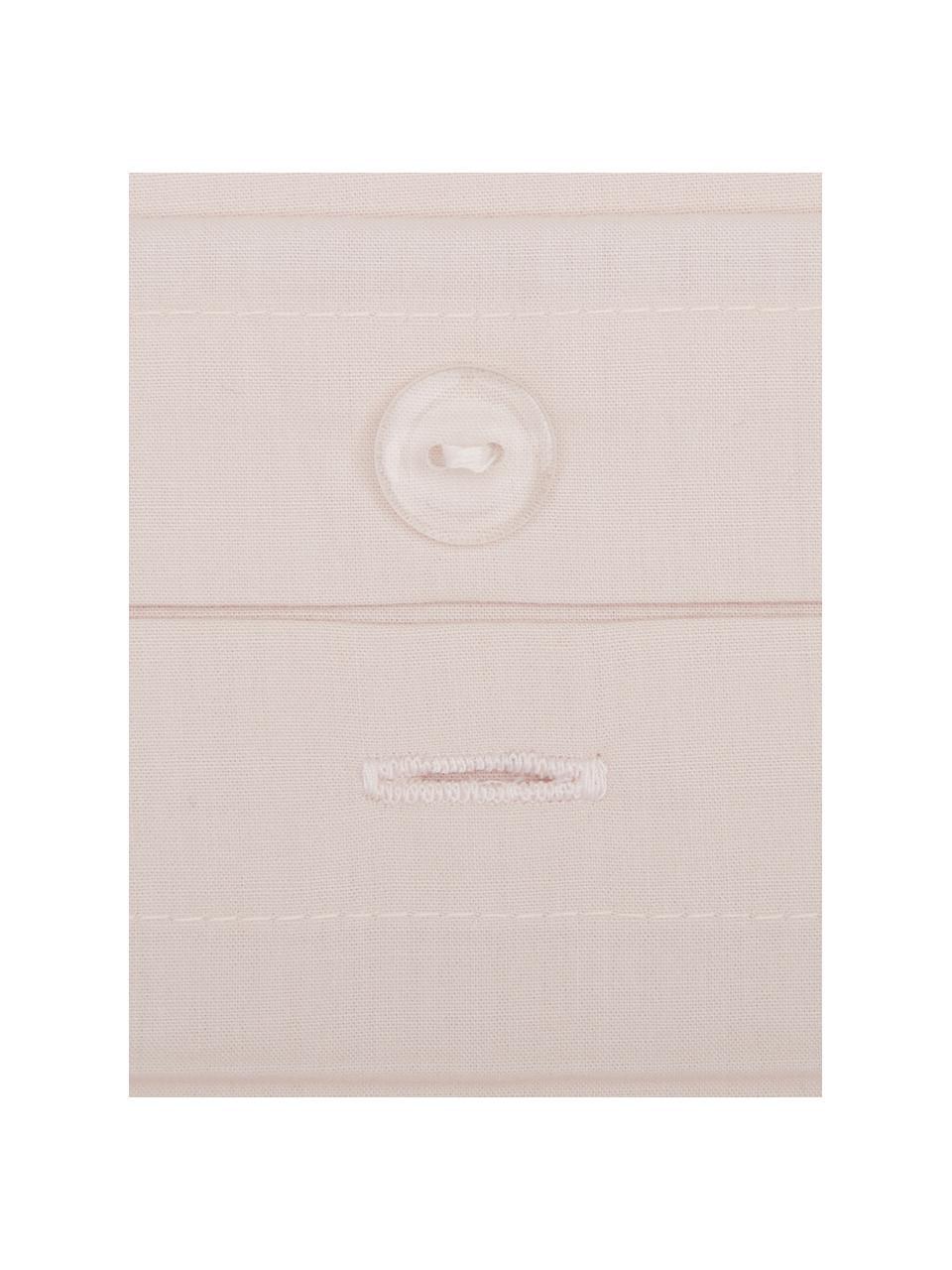 Perkal dekbedovertrek Elsie, Weeftechniek: perkal Draaddichtheid 200, Roze, 240 x 220 cm + 2 kussen 60 x 70 cm