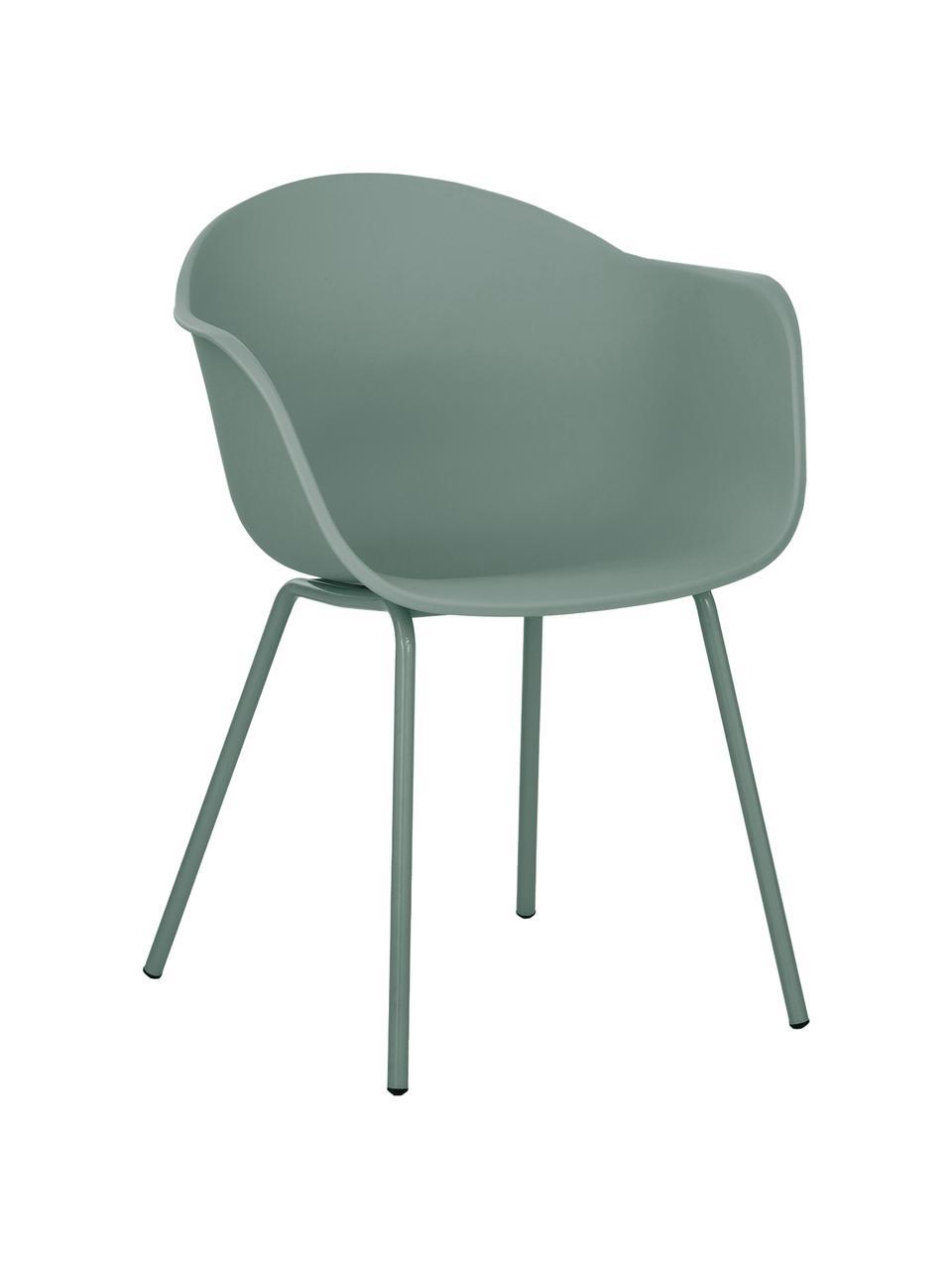 Židle spodručkami skovovými nohami Claire, Zelená